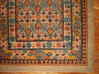 "#1B344 Persian ""Camel hair"" rug 2.3' x 3' 1900, in original good condition."