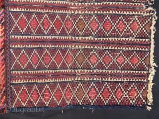 Antique Beluch bag face with sumak technic, 70 x 50 cm . www.eymen.com.tr