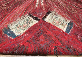 Antique handmade shawl, 172 x 152 cm  www.eymen.com.tr
