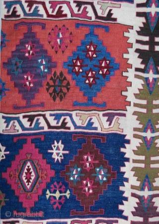 Anatolian Kilim one part in good condition .323 x 73 cm . www.eymen.com.tr