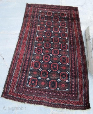 Beluch rug,with pure wool natural color,150 x 90 cm