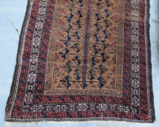 Beluch Rug, pure wool natural color with little damage .160 x 93 cm