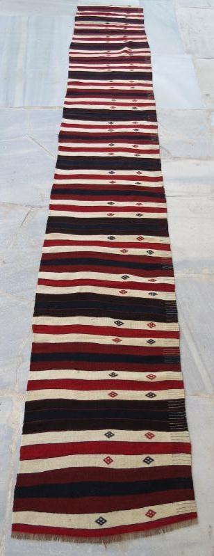Persian Mazandaran kilim runner. 450 x 66 cm