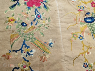 Antique Chinese silk embroidery textile .123 x 101 cm