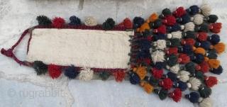 Vintage Turkmen Yamut Torba in good condition with tassel.90 x 60 cm