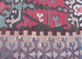 Antique Anatolian kilim fragment .120 x 74 cm
