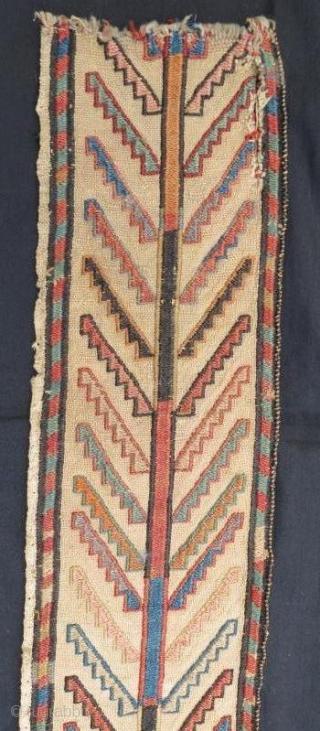 Bahtiyary tent band fragment .160 x 15 cm