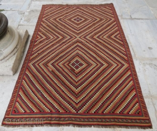 Persian Kilim with mix technique,200 x 125 cm