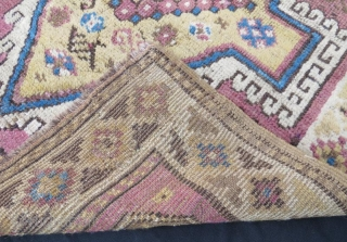 Anatolian Terekeme Rug,pure wool natural dyes.238 x 94 cm