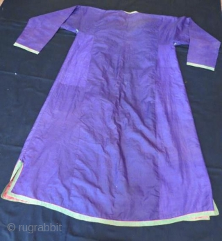 Antique Turkmen Silk kaftan 160 x 130 cm
