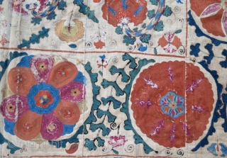 Central asian uzbek suzani,230 x 162 cm .