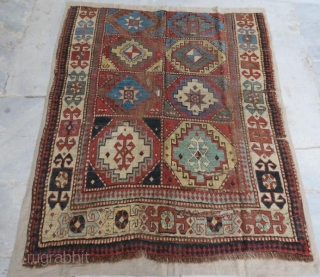 Early Caucasion Rug fragment , 150 x 120 cm