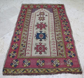 Monastir prayer rug in good condition .146 x 95 cm .