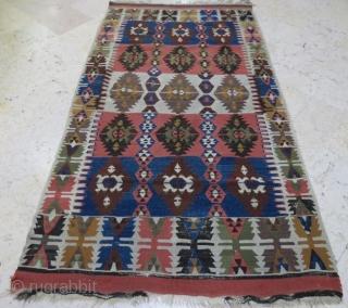 Antique Anatolian kilim with damage,210 118 cm  www.eymen.com.tr