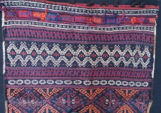 Afshar banded weft-float khorjin 110 x 92 cm