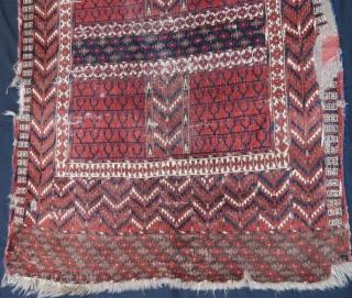 Early saryk ensi rug with damage ,150 x 113 cm
