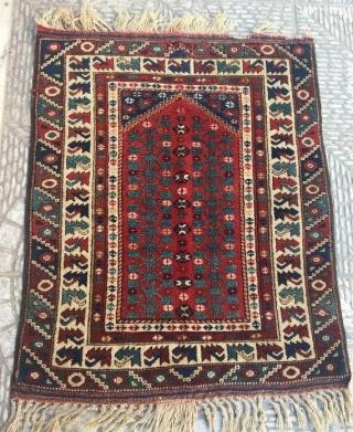 Anatolian rug with litle damage ,105 x 87 cm