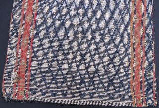 Qashkai Tribal Saddle bag, Handicraft with Sumak Technic Pure Wool Natural color - 114 x 60 cm