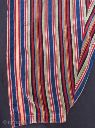 Turkish Anatolian ANTIQUE Shalvar with silk and velvet fabric in good condition, Women pants ,102 x 90 cm