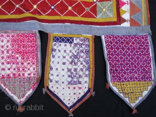 Mirrored Indian Tribal Silk Embroidery . Walance Panel for your Wall Hanging.