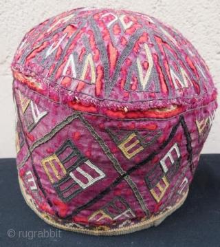 Antique Turkmen Yamut hat , 55 x 21 cm