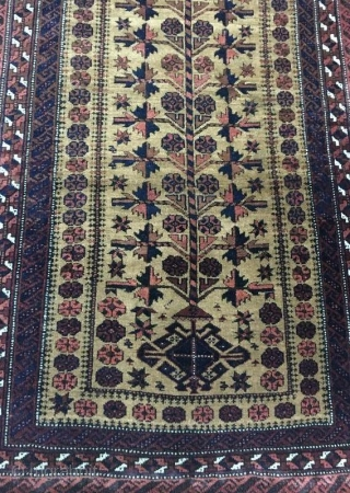 Antique beluch natural prayer rug in perfect condition 150 x 86 cm