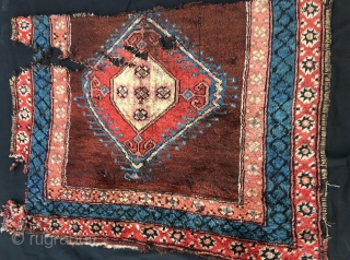 Antique anatolian karapinar rug fragment,120 x 86 cm