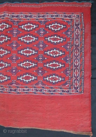 Turkmen sumak yamut chuval in good condition,105 x 76 cm 
