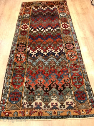 Early anatolian kurdish rug in perfect condition 265 x 115 cm .
