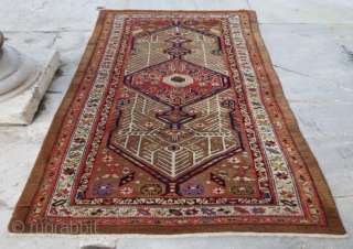 Antique persian rug in good condition natural color.210 x 90 cm
