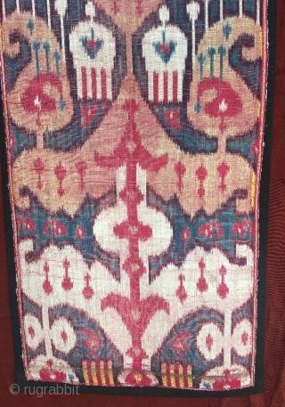 Uzbekistan silk velvet ikat fragment 91 x 34 cm  www.eymen.com.tr