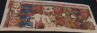18 th century anatolian kilim fragment .216 x 77 cm . www.eymen.com.tr