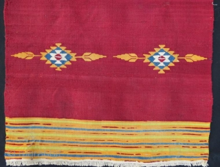 Halepo kilim in good condition . 86 x 47 cm .