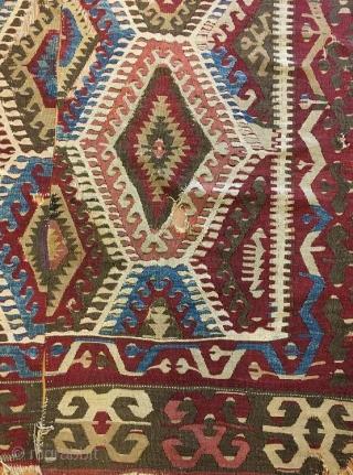 Anatolian kilim fragment .180 x 126 cm  www.eymen.com.tr