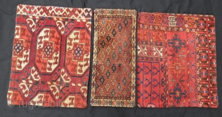 Antique Ersari and yamut Pillow Set ,4 pieces with deference size .