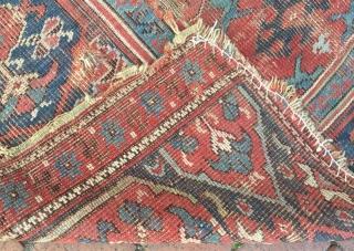 Early Anatolian usak rug fragment,190 x 116 cm