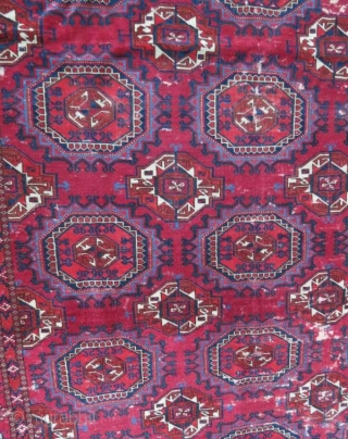 Tekke Main Rug, very fine and rare, with damage 238 x 134 cm
