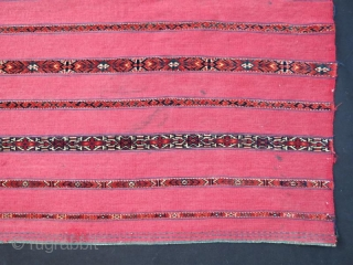 Turkmen Ak Chuval very fine with little damage pure wool natural color.132 x 87 cm