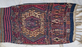 Antique Anatolian Kurdish Saddle Bag, 264 x 78 cm.