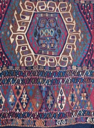 Antique Anatolian Kurdish Saddle Bag, 264 x 78 cm. www.eymen.com.tr