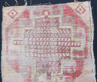 Anatolian Konya Karapinar Rug Fragment,18 th century .190 x 65 cm