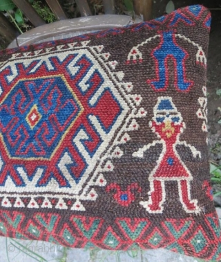 Antique Jaff kurdish rug pillow .51 x 33 cm .