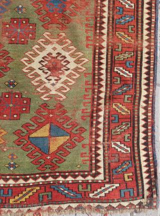 19.th century Caucasian Rug sıze 122x182