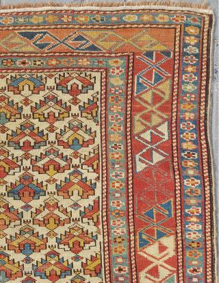19.th century Shirvan Rug sıze 125 x 165