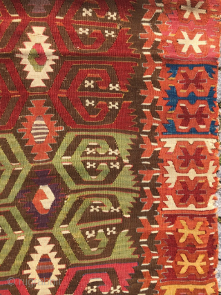 18.th century Kapadokia kilim 76 x 195 cm super colors