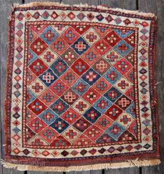 Shashavan piled bagface. NW Persia. Circa 1850. 59 x 55cm. The colours are a joy.