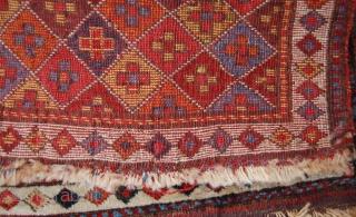 Shashavan piled bagface. NW Persia. Circa 1850. 59 x 55cm. The colours are a joy.
