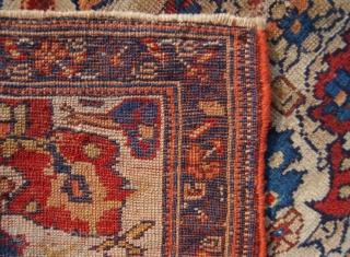 Antique Afshar bagface. Good age, circa 1880. 84 x 50cm.