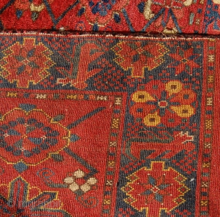 Ersari mina khani design chuval. 19th century. Superb colours and wool. 180 x 87cm. Edge losses and one border repair to the top.