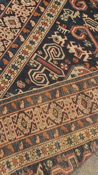 Blue ground Caucasian Perepedil rug